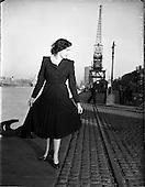 1952 -  Fashion: Miss Betty Cronin at Customs House