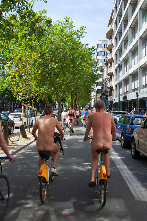 "World Naked Bike Ride Brussels 2013 World Naked Bike Ride Brussels 2013. The World Naked Bike Ride (WNBR) is an international clothing-optional bike ride in which participants plan, meet and ride together en masse on human-powered transport to ""deliver a vision of a cleaner, safer, body-positive world."""