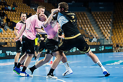 Domen Novak  of RK Celje Pivovarna Lasko during handball match between RK Celje Pivovarna Lasko (SLO) and THW Kiel (GER) in Group Phase B of EHF Champions League 2020/21, on 1 October, 2020 in Arena Zlatorog, Celje, Slovenia. Photo by Grega Valancic / Sportida