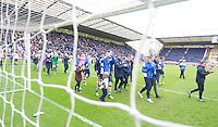 Preston North End players do a lap of the pitch after their last home match of the season to applaud their fans for their support through the season<br /> <br /> Photographer Stephen White/CameraSport<br /> <br /> Football - The Football League Sky Bet League One - Preston North End v Swindon Town - Saturday 25th April 2015 - Deepdale - Preston<br /> <br /> © CameraSport - 43 Linden Ave. Countesthorpe. Leicester. England. LE8 5PG - Tel: +44 (0) 116 277 4147 - admin@camerasport.com - www.camerasport.com
