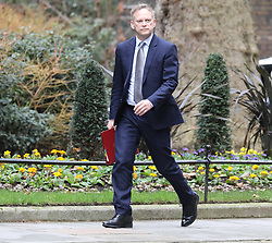 © Licensed to London News Pictures. 08/01/2020. London, UK. Grant Shapps Transport Secretary arrives at Downing Street ahead of the meeting between the Prime Minister and the new EU chief Ursula von der Leyen. As Iran launches missile attacks at Iraqi bases hosting US and coalition troops. Photo credit: Alex Lentati/LNP