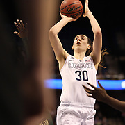 Breanna Stewart, UConn, shoots during the UConn Huskies Vs USF Bulls Basketball Final game at the American Athletic Conference Women's College Basketball Championships 2015 at Mohegan Sun Arena, Uncasville, Connecticut, USA. 9th March 2015. Photo Tim Clayton