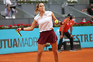 Aryna Sabalenka of Belarus against Ashleigh Barty of Australia, final match during the Mutua Madrid Open 2021, Masters 1000 tennis tournament on May 8, 2021 at La Caja Magica in Madrid, Spain - Photo Laurent Lairys / ProSportsImages / DPPI