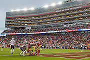 San Francisco 49ers tight end Vance McDonald (89) catches a pass for a touchdown against the New England Patriots at Levi's Stadium in Santa Clara, Calif., on November 20, 2016. (Stan Olszewski/Special to S.F. Examiner)