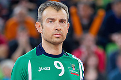 Nikola Grbic of Cuneo during volleyball match between ACH Volley Ljubljana and Bre Banca Lannutti Cuneo (ITA) in Playoff 12 game of CEV Champions League 2012/13 on January 15, 2013 in Arena Stozice, Ljubljana, Slovenia. (Photo By Vid Ponikvar / Sportida.com)