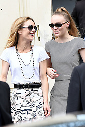 Vanessa Paradis and Lily Rose Depp leave the Chanel fashion show in Paris, France on July 3rd, 2018, two days after her wedding. Photo by ABACAPRESS.COM