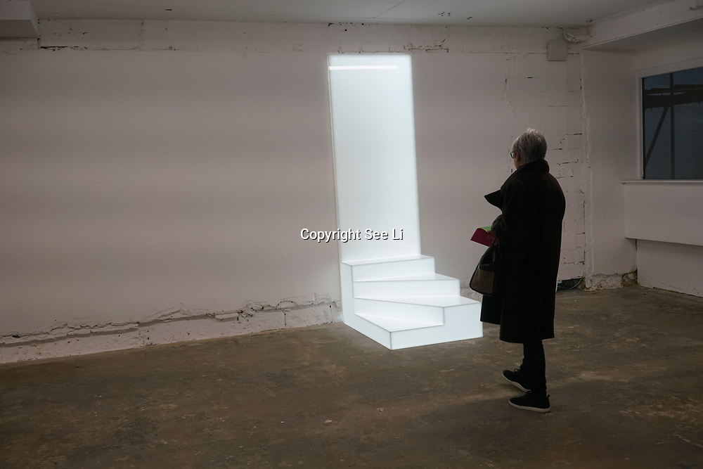 Ryan Gander,Wall works, I be art work at Everything at once showcases at  The Studios, 180 The Strand on 8th Dec 2017, London, UK.