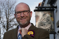 © Licensed to London News Pictures . 27/01/2017 . Copeland , UK . UKIP leader Paul Nuttall and candidate Fiona Mills with deputy leader Peter Whittle AM visiting the constituency of Copeland to launch the party's by-election office .  The seat became vacant after sitting MP Jamie Reed resigned . Photo credit : Joel Goodman/LNP