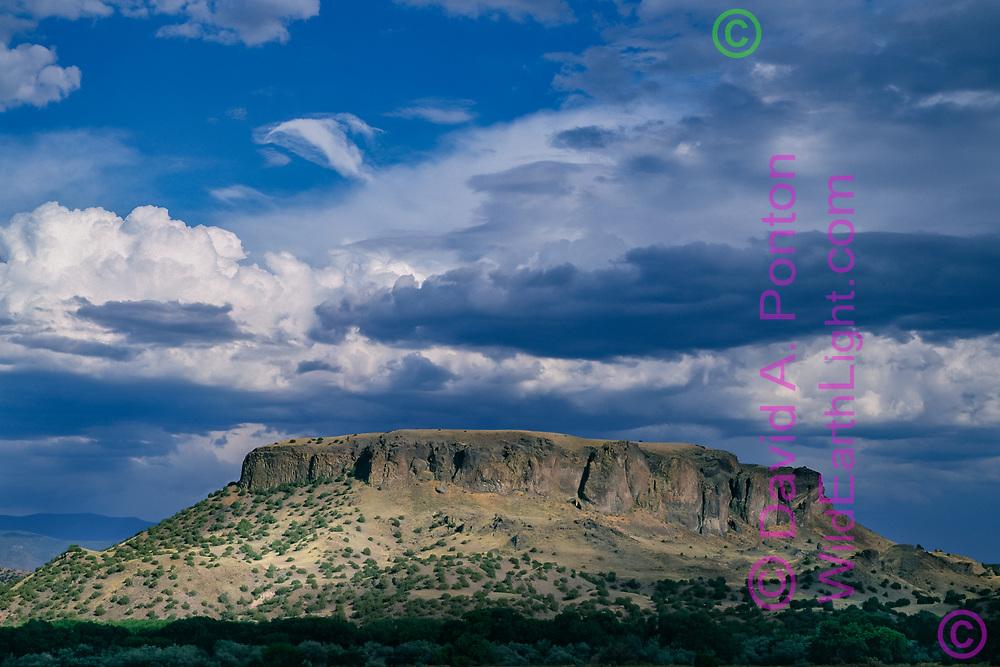 Black Mesa, prominent landmark in the northern Rio Grande Valley, New Mexico, © David A. Ponton