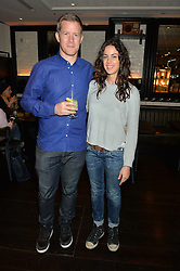 BEN BRIDGEWATER and ANA ALONSO at a party to celebrate the publication of Honestly Healthy Cleanse by Natasha Corrett held at Tredwell's Restaurant, 4a Upper St.Martin's Lane, London on 14th January 2015.