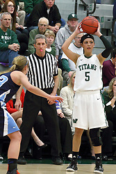 21 February 2015:  Kasey Reaber during an NCAA women's division 3 CCIW basketball game between the Elmhurst Bluejays and the Illinois Wesleyan Titans in Shirk Center, Bloomington IL