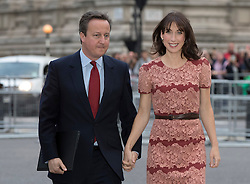 © Licensed to London News Pictures. 30/06/2016. London, UK. Prime Minister David Cameron and Samantha Cameron arrive for The Battle of the Somme Centenary Service and Vigil at Westminster Abbey. An overnight vigil at the Grave of the Unknown Warrior will start tonight and end at 0730 tomorrow morning. Photo credit: Peter Macdiarmid/LNP