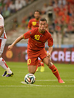 Fotball<br /> 07.06.2014<br /> Belgia v Tunisia<br /> Foto: PhotoNews/Digitalsport<br /> NORWAY ONLY<br /> <br /> Eden Hazard of Belgium during a FIFA international friendly match between Belgium and Tunisia as part of the preparation of the Belgian national soccer team prior to the FIFA World Cup 2014 at the King Baudouin Stadium in Brussels, Belgium.