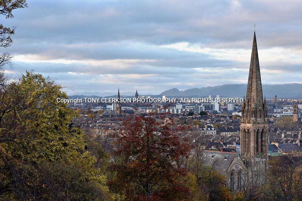 A view over Glasgow from Queen's Park vantage point