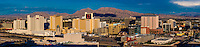 Panoramic view of Downtown Las Vegas, Nevada USA.