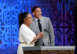 Oprah Winfrey, and Will Smith speak at the opening ceremony of the Smithsonian National Museum of African American History and Culture in Washington, DC, USA on September 24, 2016. The museum is opening thirteen years after Congress and President George W. Bush authorized its construction. Photo by Olivier Douliery/ABACAPRESS.COM