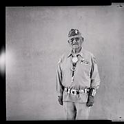 A portrait of Navajo Code Talker Thomas H. Begay, July 13, 2019, Albuquerque, New Mexico.