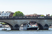 """Henley on Thames. United Kingdom.   view of the paddle boat  """"New Orleans"""". moves, slowly under Henley Road Bridge Thursday  17/05/2018<br /> <br /> [Mandatory Credit: Peter SPURRIER:Intersport Images]<br /> <br /> LEICA CAMERA AG  LEICA Q (Typ 116)  f5  1/1000sec  35mm  42.5MB"""