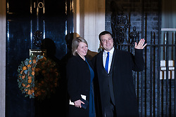 London, UK. 3 December, 2019. Juri Ratas, Prime Minister of Estonia, arrives with his wife Karin Ratas for a reception for NATO leaders at 10 Downing Street on the eve of the military alliance's 70th anniversary summit at a luxury hotel near Watford.