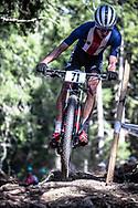 Luke Vrouwenvelder (USA) during the Mens Elite Cross Country event at the 2018 UCI MTB World Championships - Lenzerheide, Switzerland
