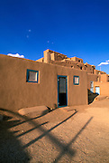 Evening light on North House, Taos Pueblo, New Mexico