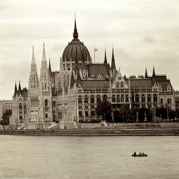 In Budapest for the Formula 1 Grand Prix of Hungary we caught sight of this group paddling down the Danube past the Parliament Building.