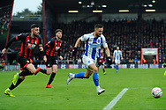 Florin Andone (10) of Brighton and Hove Albion on the attack during the The FA Cup 3rd round match between Bournemouth and Brighton and Hove Albion at the Vitality Stadium, Bournemouth, England on 5 January 2019.