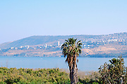 The Sea of Galilee with Tiberias in the background