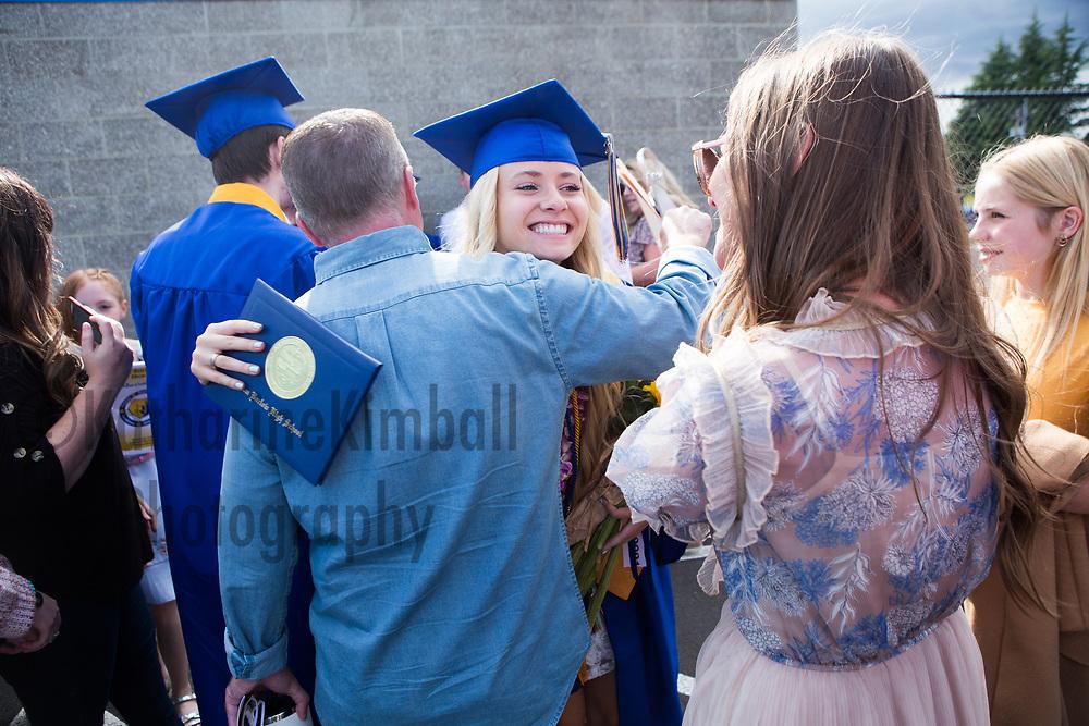Sam Barlow High School graduation at new Sam Barlow High School Stadium.