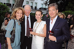 Left to right, LARA CAZALET, LORD ROTHSCHILD and CHARLIE BUTTER and his wife AGNIESZKA at the Tatler Summer Party, The Hempel Hotel, 31-35 Craven Hill Gardens, London W2 on 25th June 2008.<br /><br />NON EXCLUSIVE - WORLD RIGHTS