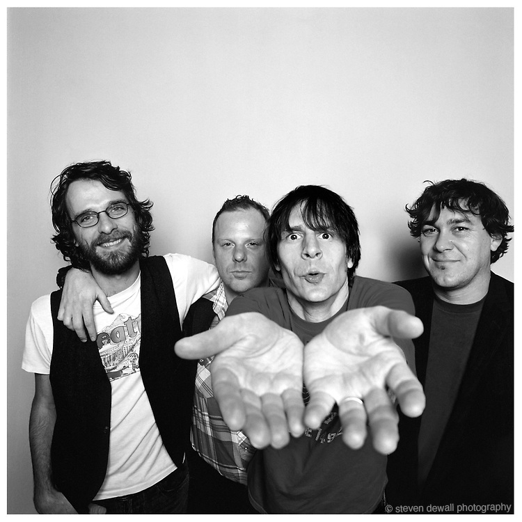 (L-R)Steve Turner, Dan Peters, Guy Maddison and Mark Arm of Mudhoney