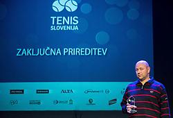 Andrej Krasevec at Slovenian Tennis personality of the year 2016 annual awards presented by Slovene Tennis Association Tenis Slovenija, on December 7, 2016 in Siti Teater, Ljubljana, Slovenia. Photo by Vid Ponikvar / Sportida