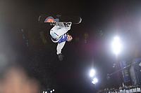 Snowboard , X-Games Oslo <br /> 26. Februar 2016  , 20160226<br /> Snowboard, Half Pipe, Wyller, X-Games <br /> Pat Burgener i lufta under mennenes finale <br /> Foto: Sjur Stølen / Digitalsport