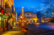 Leavenworth is a city in Chelan County, Washington, in Eastern Washington United States. The entire town center is modelled on a Bavarian village.  In December Leavenworth puts on the ultimate Christmas Festival: Leavenworth's Town and Tree Lighting.