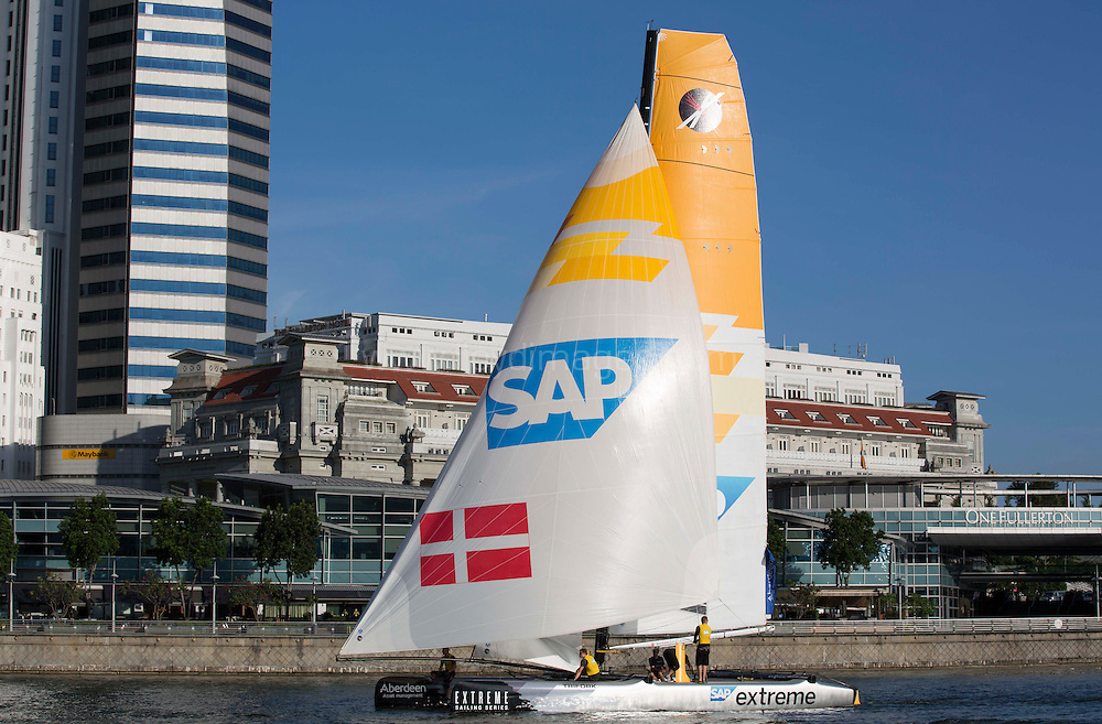 The Extreme Sailing Series 2013. Act2. Singapore. .Please credit: Lloyd Images