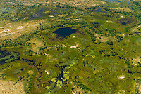 Aerial views on flight from Okavango Delta to Maun, Botswana.