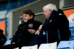 Amy Garnett chats with Tony Rowe OBE during the game - Mandatory by-line: Ryan Hiscott/JMP - 07/03/2020 - SPORT- Sandy Park - Exeter, United Kingdom - Exeter Chiefs Women v Army Women