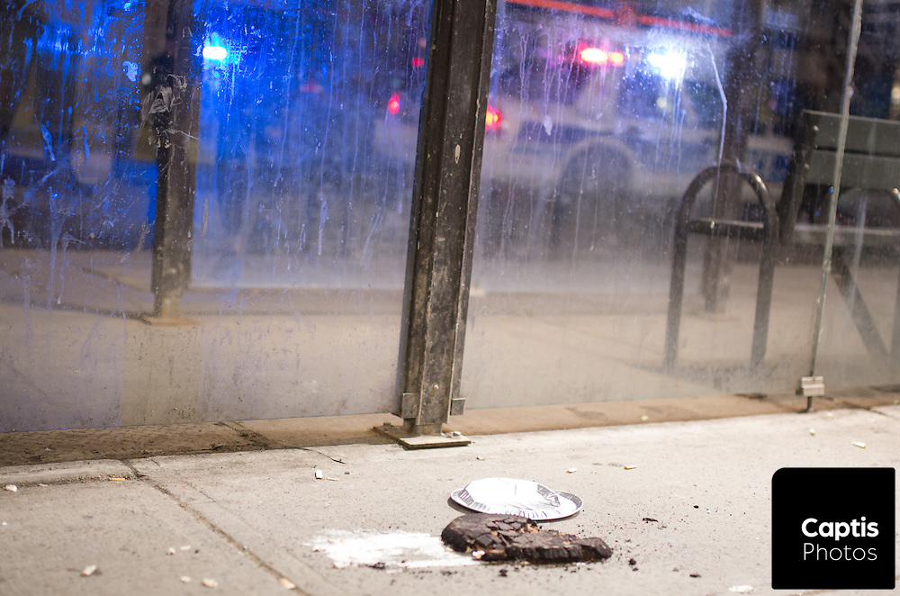 A pie that witnesses say was involved in the assault on Rideau Street. March 31, 2015.<br /> <br /> Captis Photos / Brendan Montgomery