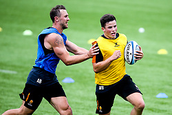 Will Butler and Ashley Beck of Worcester Warriors during preseason training ahead of the 2019/20 Gallagher Premiership Rugby season - Mandatory by-line: Robbie Stephenson/JMP - 06/08/2019 - RUGBY - Sixways Stadium - Worcester, England - Worcester Warriors Preseason Training 2019