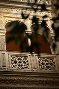 Architectural arches and columns in Casino Gaditano, Cadiz, Andalusia, Spain