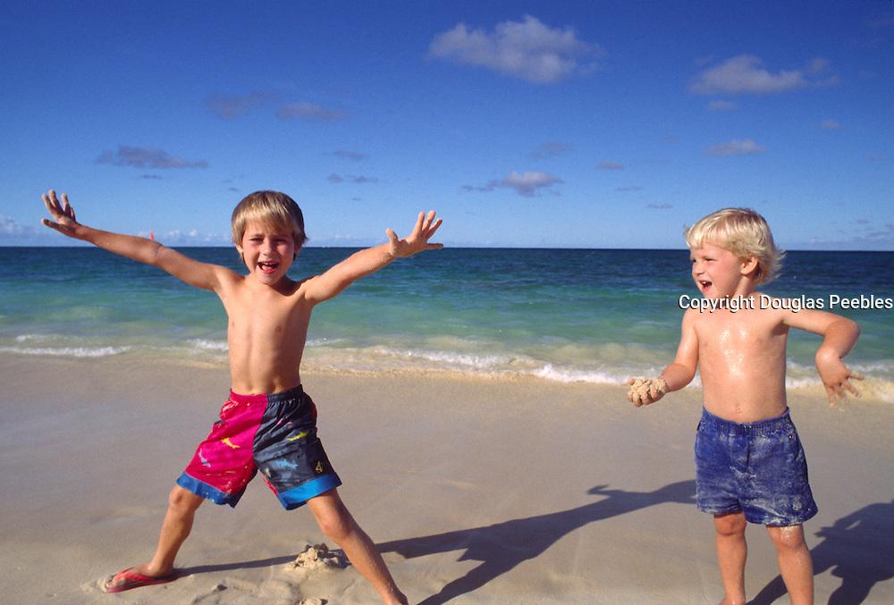 Boys on beach<br />