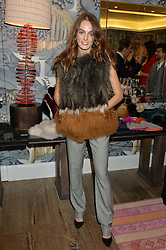 LADY VIOLET MANNERS at the Mila Furs Trunk Show held at the Haymarket Hotel, 1 Suffolk Place, London on 1st November 2016.