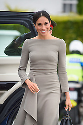 Meghan Markle, The Duchess of Sussex, pictured at Aras an Uachtarain in Dublin, where she met the President of Ireland, Michael Higgins. Picture date: Wednesday July 11th, 2018. Photo credit should read: Matt Crossick/ EMPICS Entertainment.