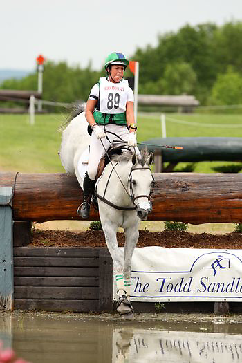 Kylie Lyman and Dauntless Heart at the Bromont Three Day Event in Bromont, Quebec, Canada.
