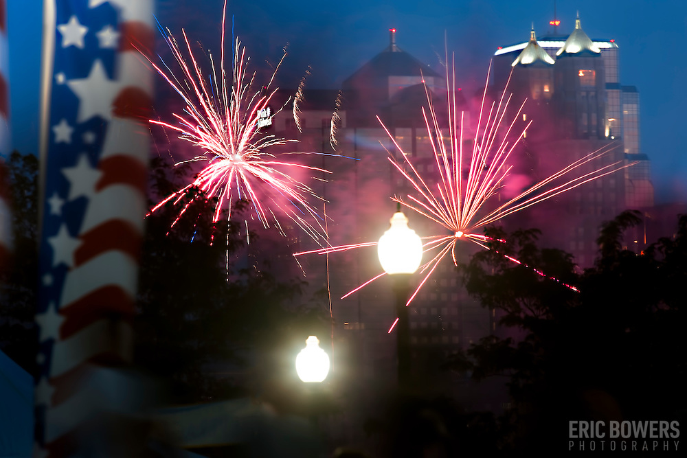 Fourth of July Fireworks at Kansas City Riverfest, 2016