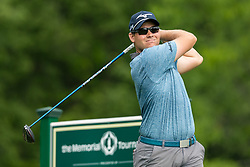 May 30, 2019 - Dublin, OH, U.S. - DUBLIN, OH - MAY 30: Adam Schenk plays his shot from the 18th tee during the Memorial Tournament presented by Nationwide at Muirfield Village Golf Club on May 30, 2018 in Dublin, Ohio. (Photo by Adam Lacy/Icon Sportswire) (Credit Image: © Adam Lacy/Icon SMI via ZUMA Press)