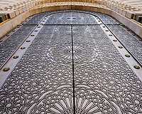 CASABLANCA, MOROCCO - CIRCA APRIL 2017: Detail view of an exterior door of the Mosque Hassan II in Casablanca.