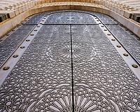 CASABLANCA, MOROCCO - CIRCA APRIL 2017: Detail view of an exterior door of the Mosque Hassan II in Casablanca.