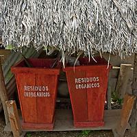 Even in Peru's Amazon Jungle, Indians in San Juan de Yanayacu village sort their garbage for composting.