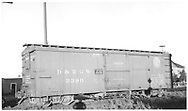 "3/4 view of box car #3390 at Antonito.  Stencilled ""Flour Sugar And Bean Loading Only"".  24"" herald.<br /> D&RGW  Antonito, CO  Taken by Maxwell, John W. - 7/2/1941"